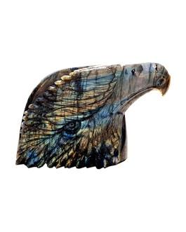 Tête d'aigle en labradorite