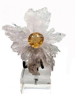Montage: Fleur d'Améthyste avec Citrine