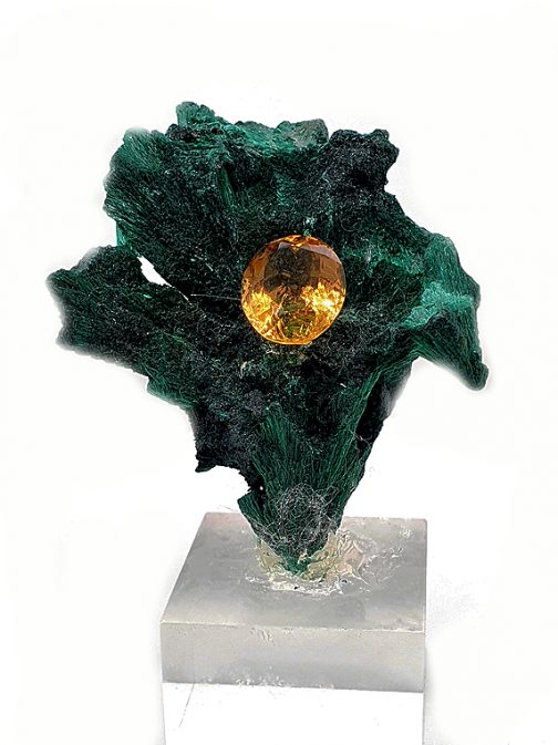 Montage malachite + citrine