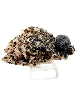 Quartz avec Chalcopyrite