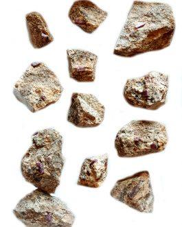 Lot de Rubis sur gangue de Madagascar : 12 pièces
