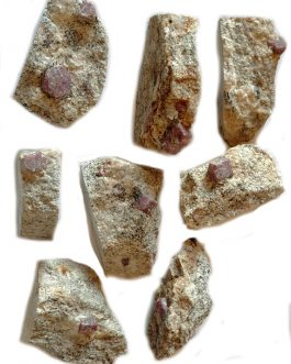 Lot de Rubis sur gangue de Madagascar : 7 pièces