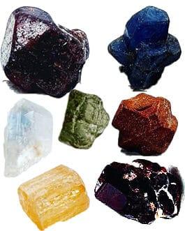 Brut de minéraux: Lot: 7 pièces