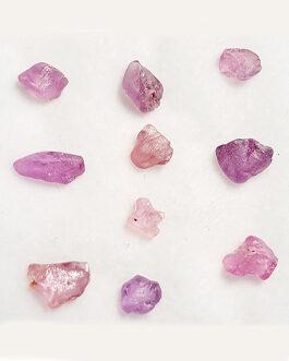 Brut de Saphir Rose: Lot: 10 pièces
