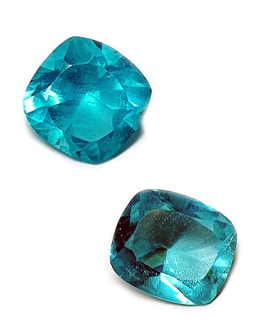 Apatite bleue : lot 2 pièces